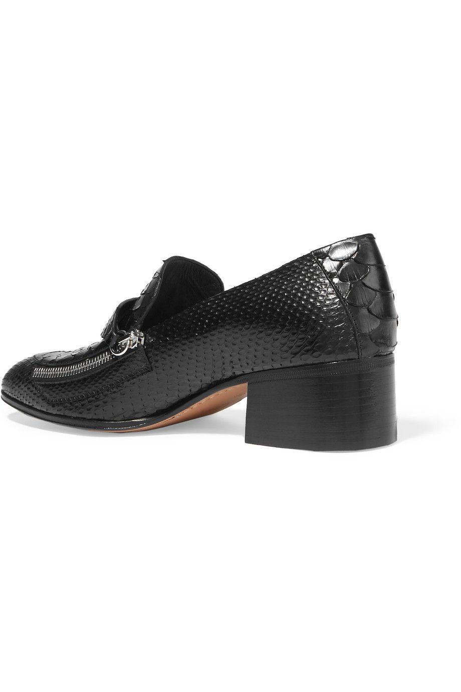 Shop on-sale Chloé Zip-detailed python loafers. Browse other discount designer Pumps & more on The Most Fashionable Fashion Outlet, THE OUTNET.COM