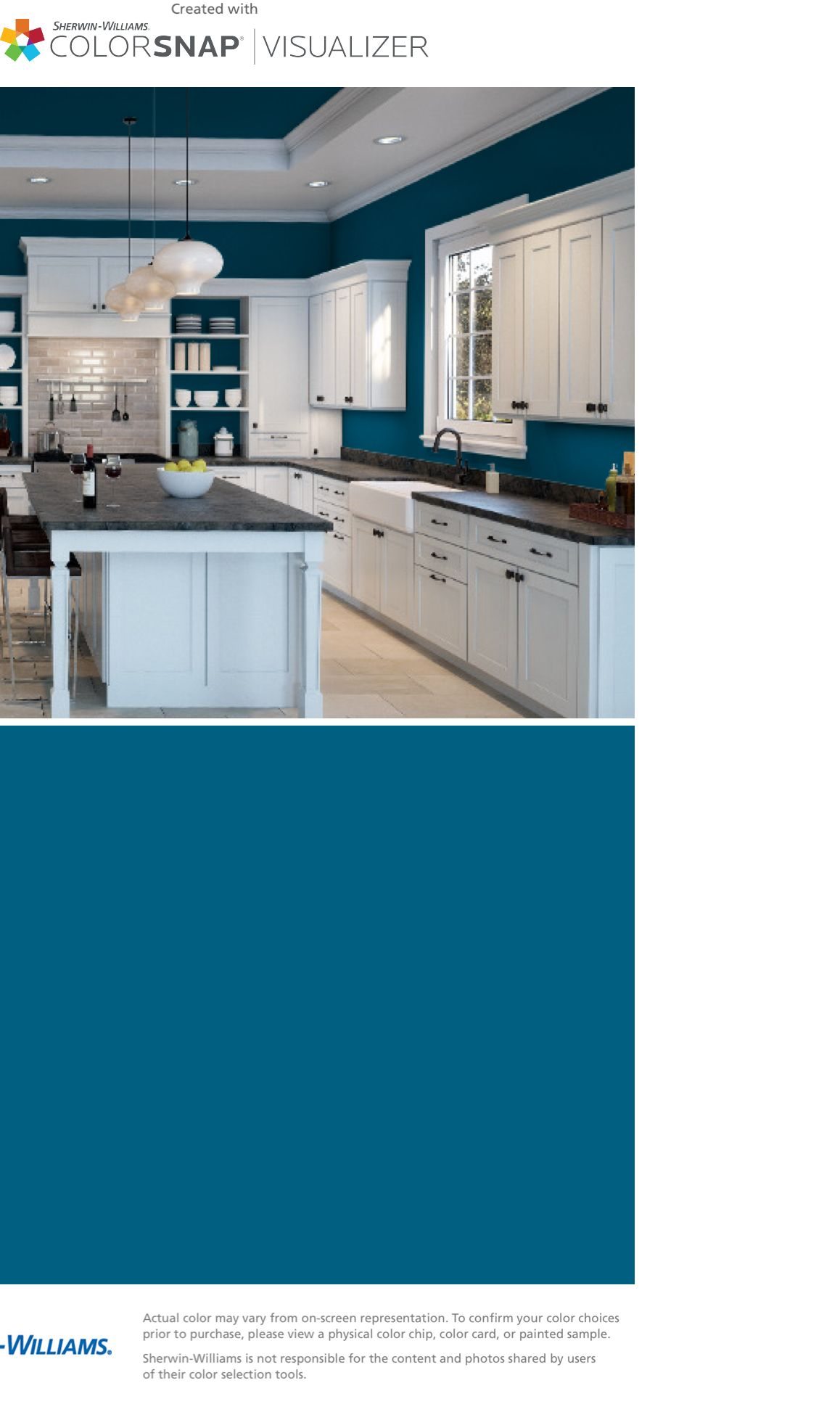 Paint Color Matching App Colorsnap Paint Color App Sherwin Williams Blue Kitchen Walls Kitchen Paint Colors Blue Accent Walls [ 1968 x 1158 Pixel ]