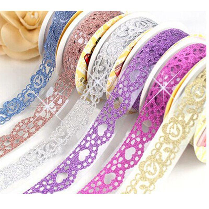 2016 Floral sticky paper self adhesive sticker sticker Japan glitter decorative tape adhesive paper lot making art  scotch