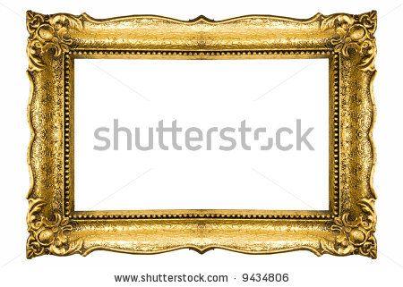 Vintage Gold Picture Frame Gold Picture Frames Frame Clipart Vintage Picture Frames