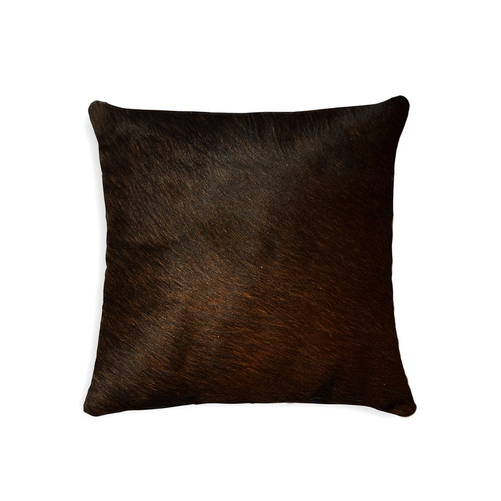 Torino Cowhide Pillow In Chocolate Cowhide Pillows Leather