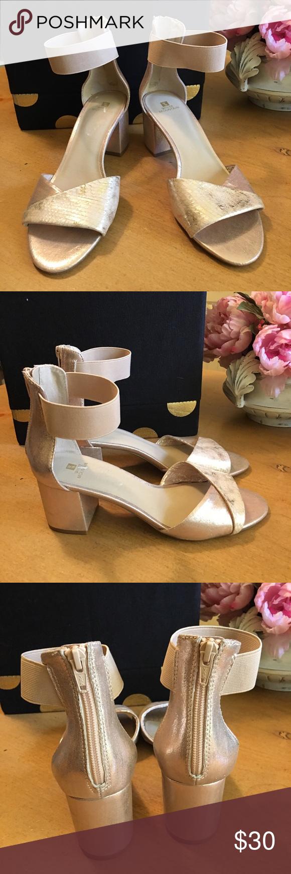 White Mountain Evie Gold Sandals 8.5 M