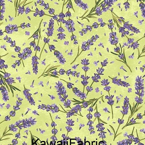 Pin By Kawaii Fabric Shop On Es Telas With Images Lavender Flowers Green Fabric Green