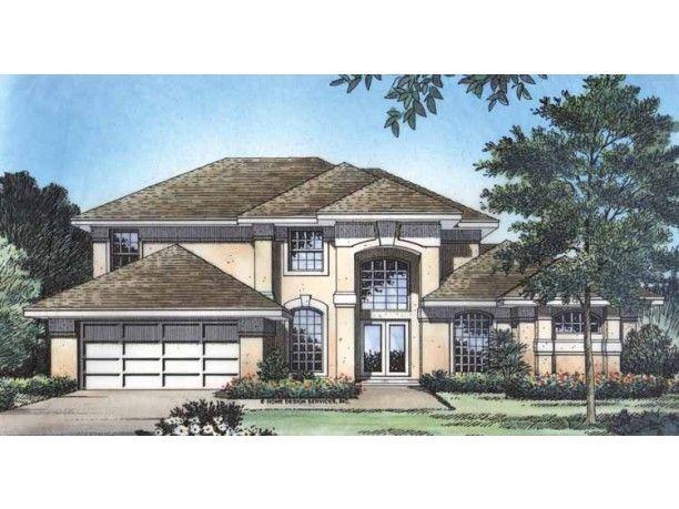 Eplans Mediterranean House Plan Alternate Elevation 2335 Square