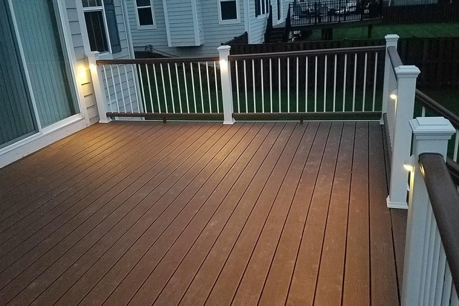 tree house trex deck with trex lights