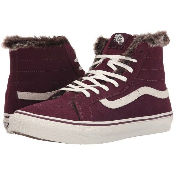 Unisex Shoes Vans SK8-Hi Slim (Fur Lining) Fig/Marshmallow