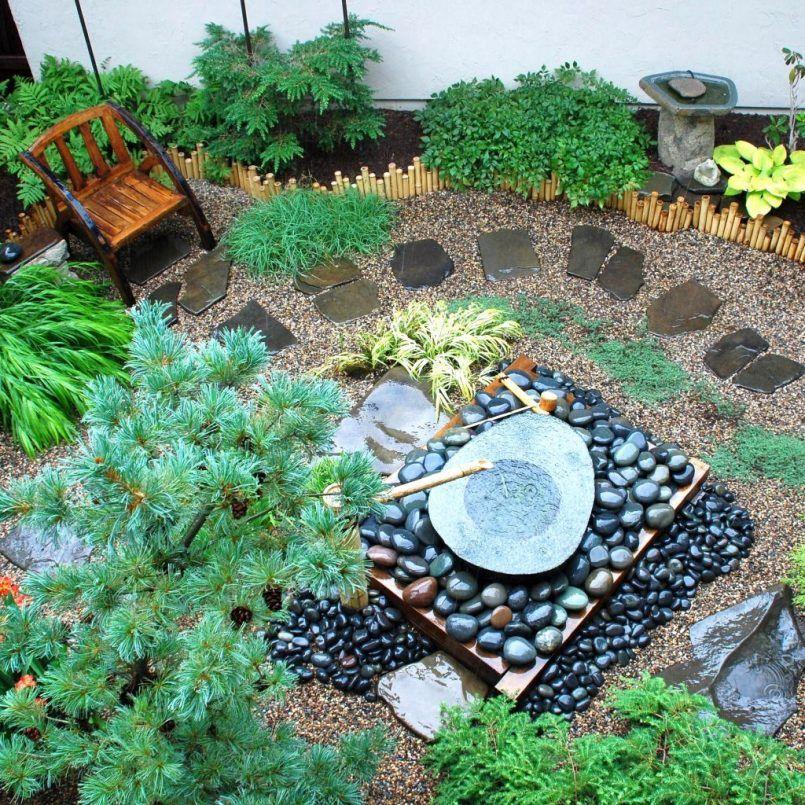 Garden Ideas Japanese Garden Designs For Small Spaces With Stone And Bamboo Fountain Landsc Small Japanese Garden Japanese Garden Japanese Gardens Design Ideas