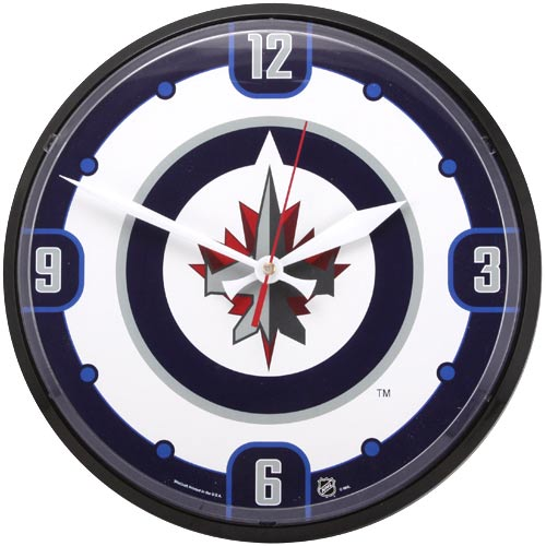 buy online 769c8 9ede4 Winnipeg Jets Logo & Name Round Wall Clock | Future home ...