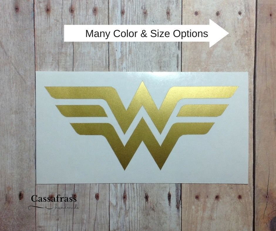 Wonder Woman Logo Vinyl Car Decal Sticker Laptop Phone Tumbler