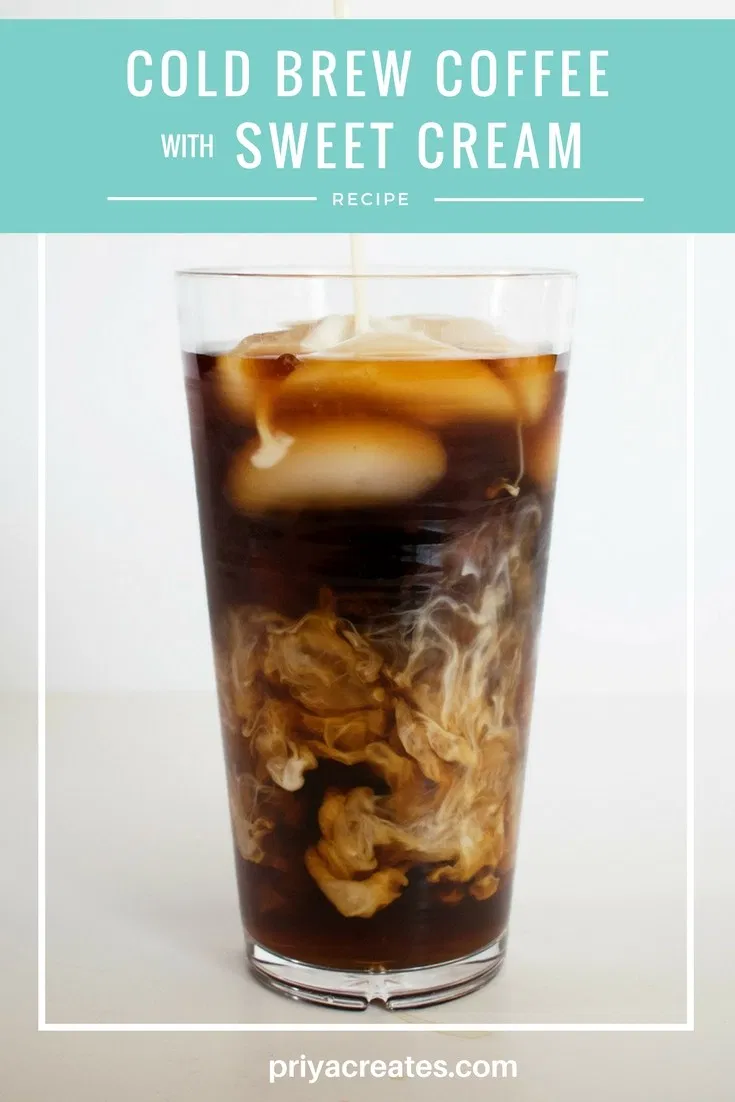 Starbucks Copycat Cold Brew Coffee with Vanilla Sweet Cream | Cold brew coffee recipe, Cold brew ...