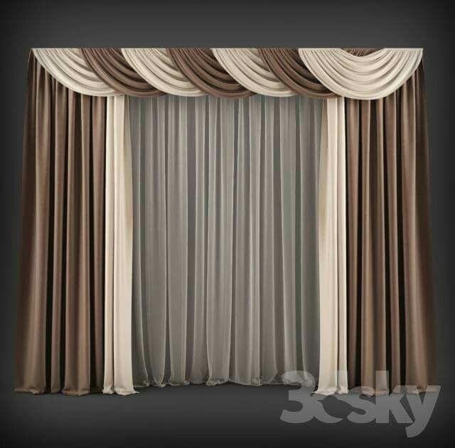 #CurtainsIdeasLuxury | noe | Cortinas modernas, Cortinas ...