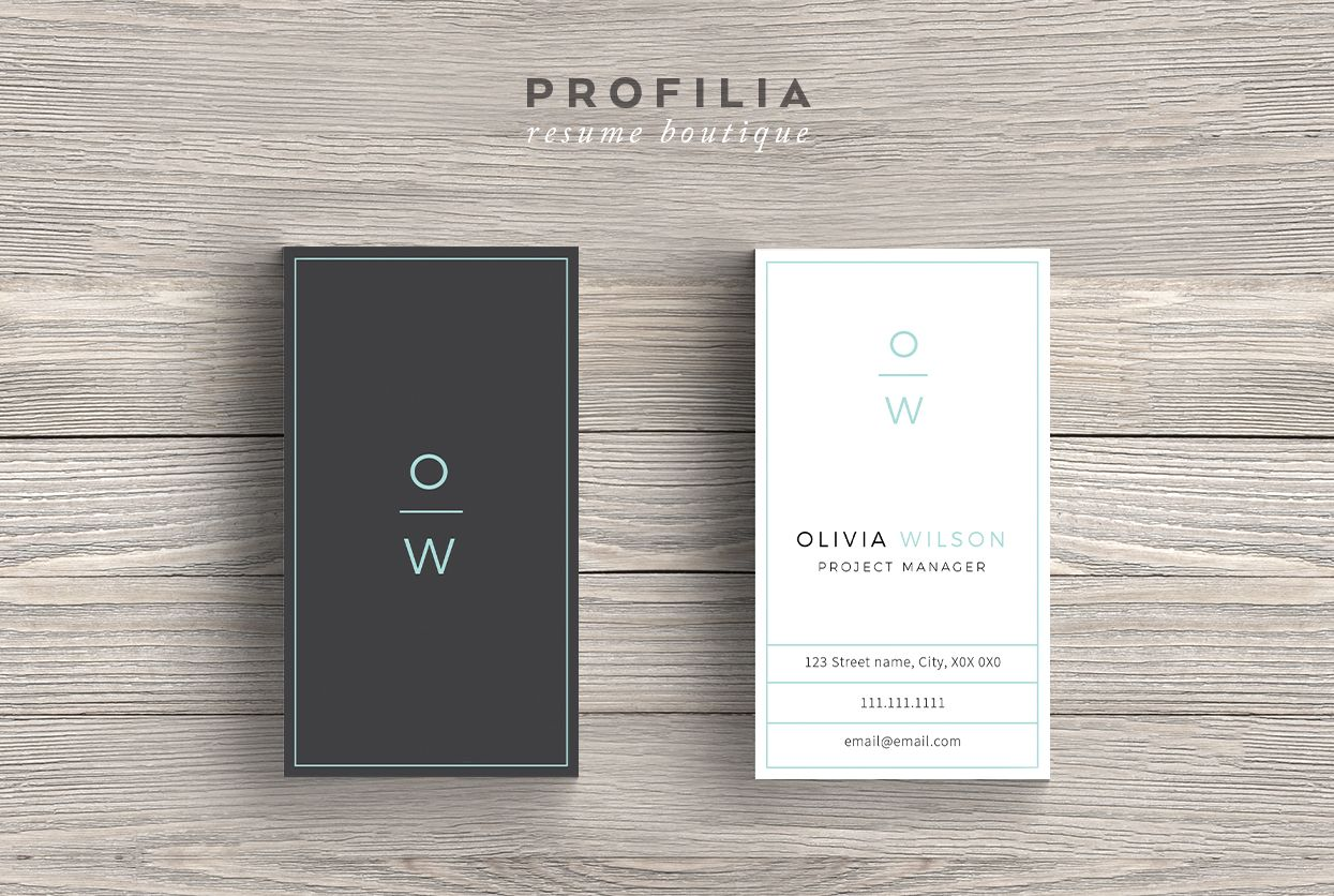Bundle Modern Business Card Template By Profilia Resume Boutique On Creativemarket