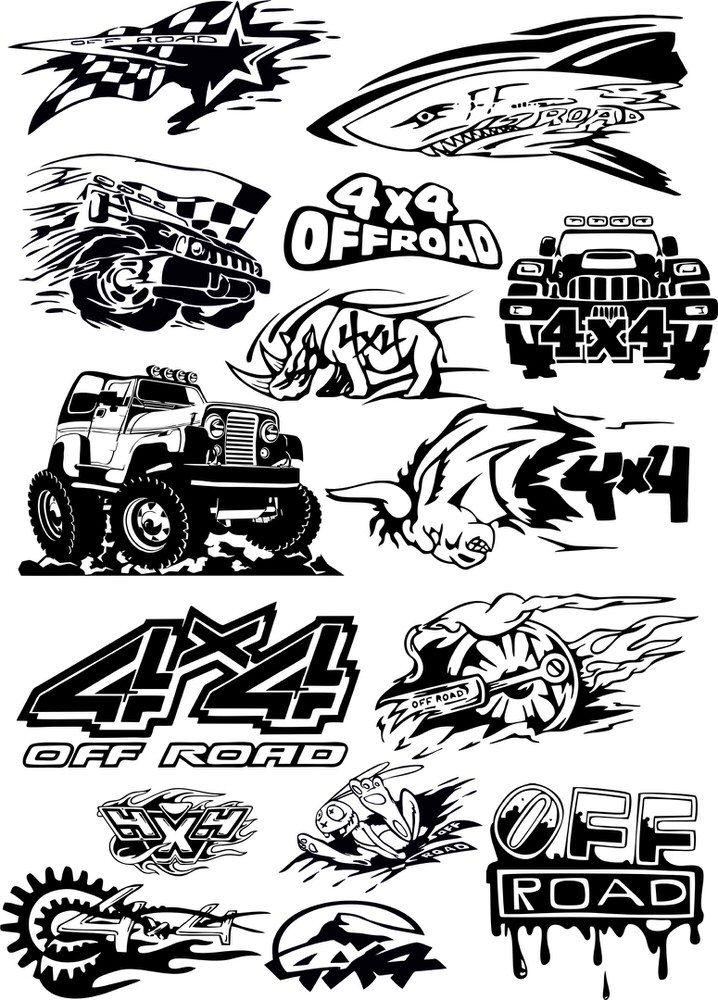 Offroad vehicle Vector Art Free Vector cdr Download