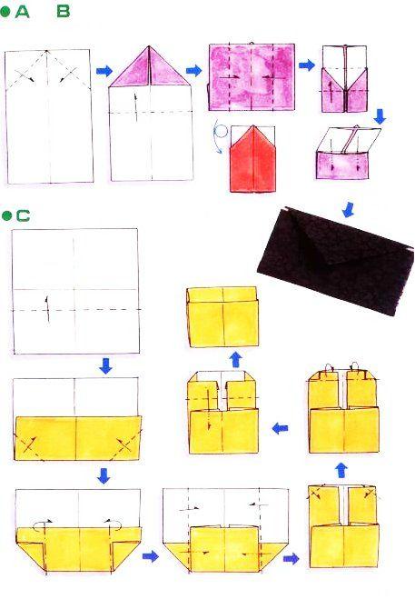 diagramme d 39 origami d 39 enveloppe porte monnaie pliages. Black Bedroom Furniture Sets. Home Design Ideas