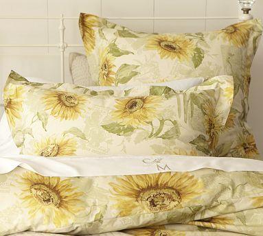 Sunflower Duvet Cover Sham Potterybarn Organic Duvet Covers