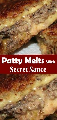 Patty Melts With Secret Sauce #pattymelts #easyrec