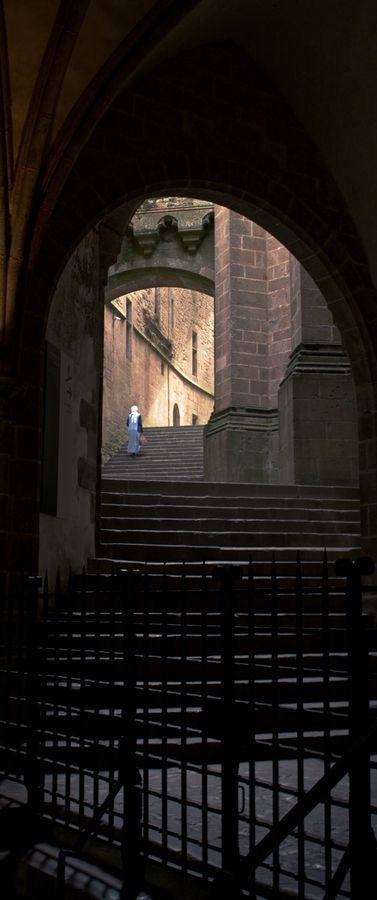 Stairway to... Mont Saint-Michel, France #Travel #Discover #Plaisirsdefrance
