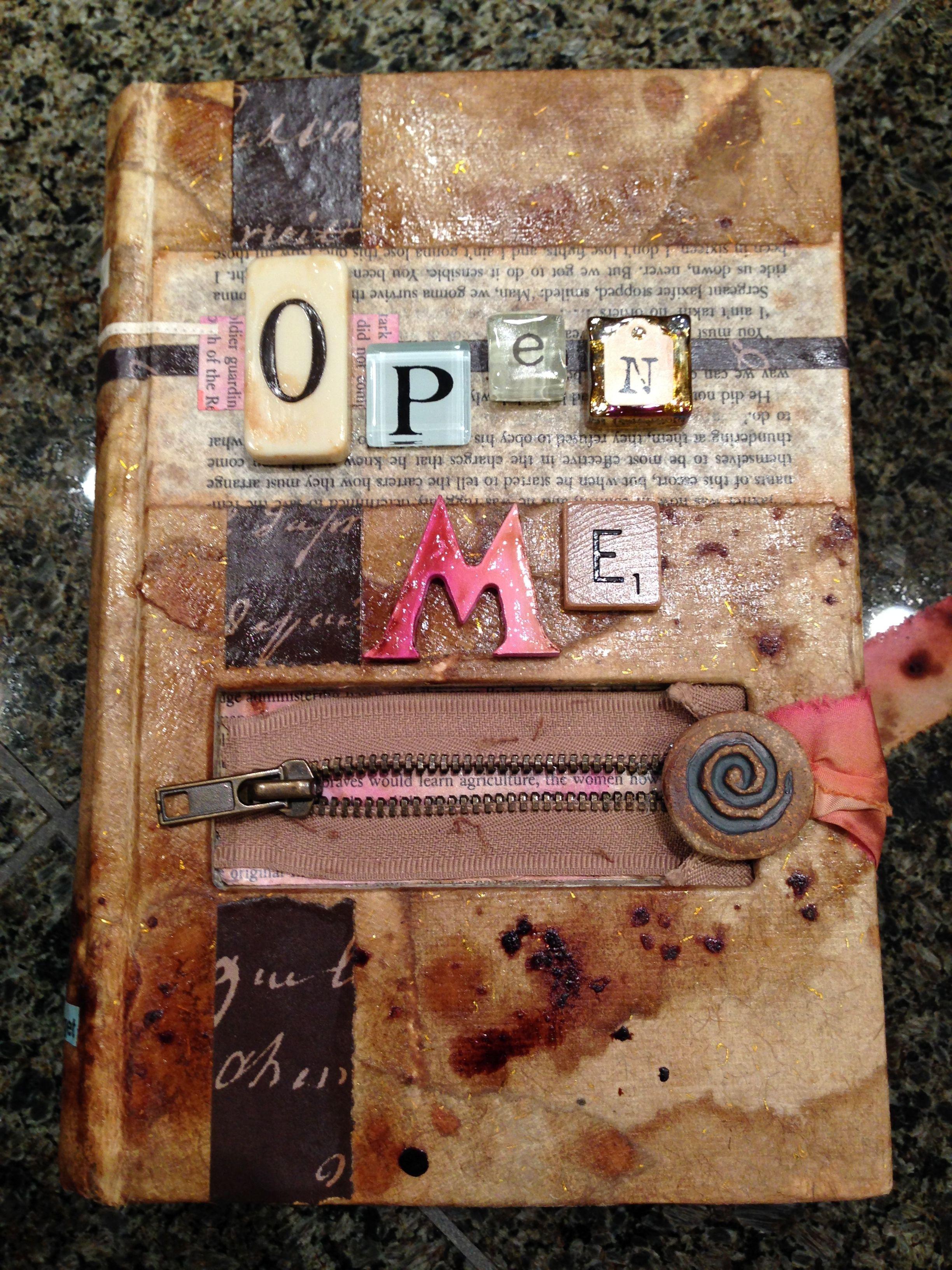 'open ' Altered Book Art Books
