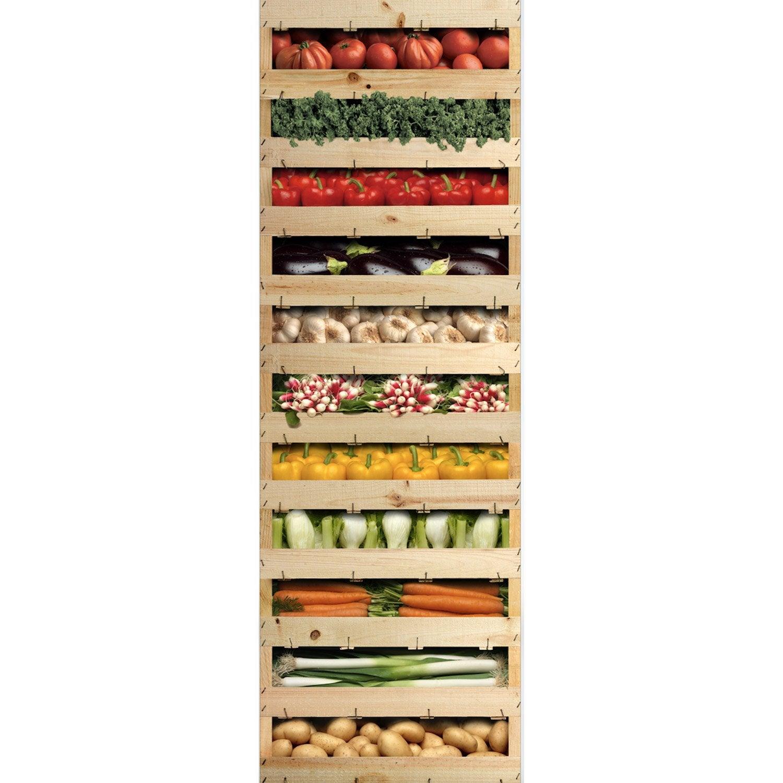 Sticker Refrigerateur Legumes Du Marche 59 5 Cm X 180 Cm En 2021 Refrigerateur Cagette Renovation Cuisine
