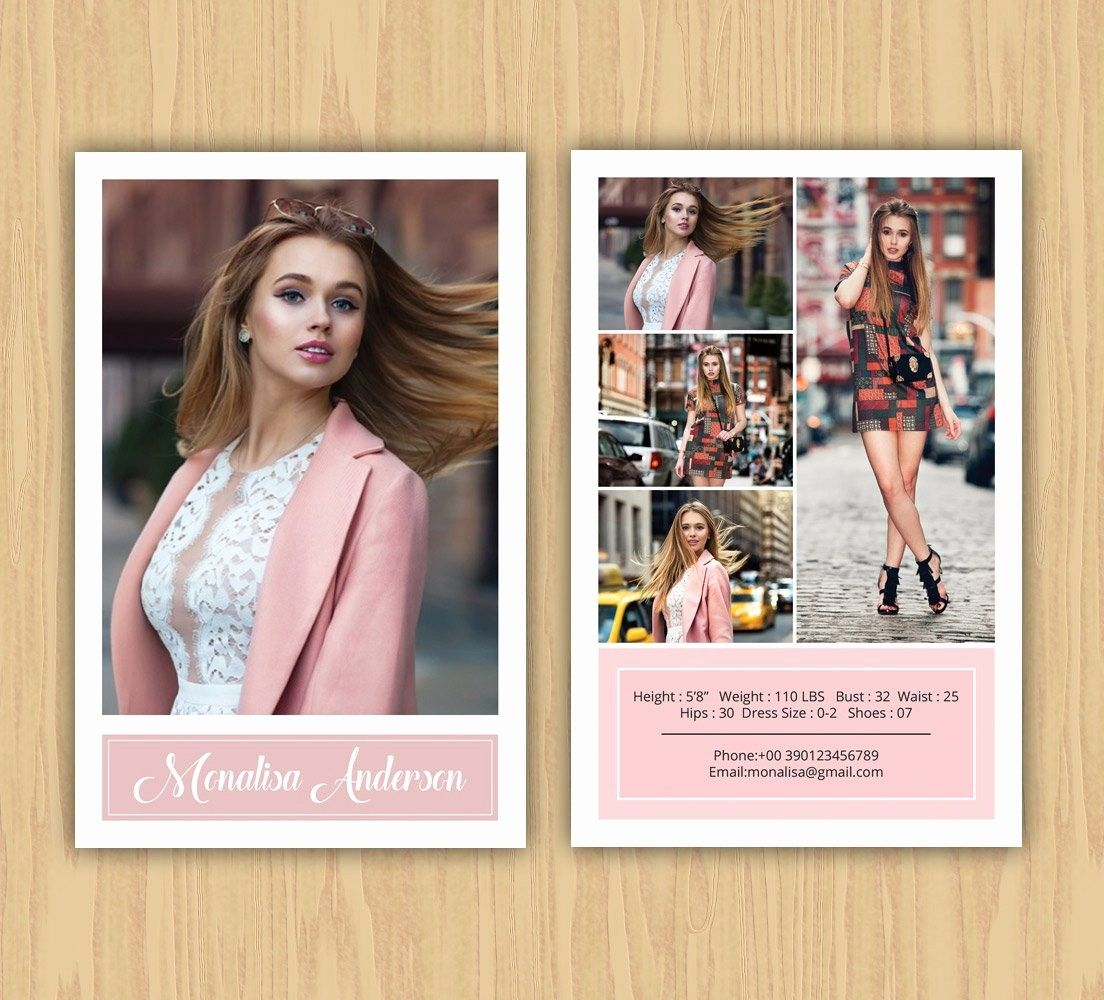 Model Comp Card Template Free Lovely Fashion Model P Card Template Modeling P Card Ms Model Comp Card Card Templates Free Card Template