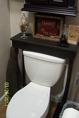 table over the toilet....