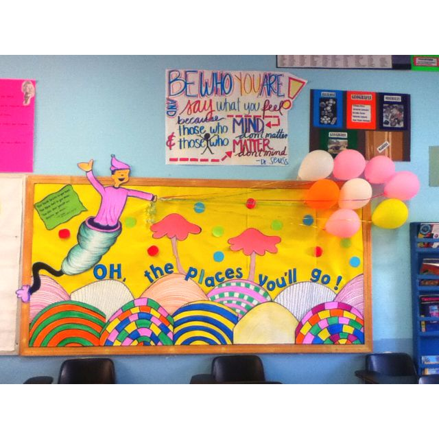 Classroom Ideas To Go : Quot oh the places you ll go bulletin board classroom