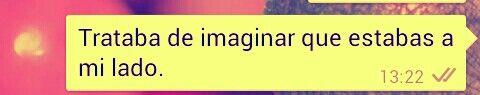 Trataba de imaginar que...