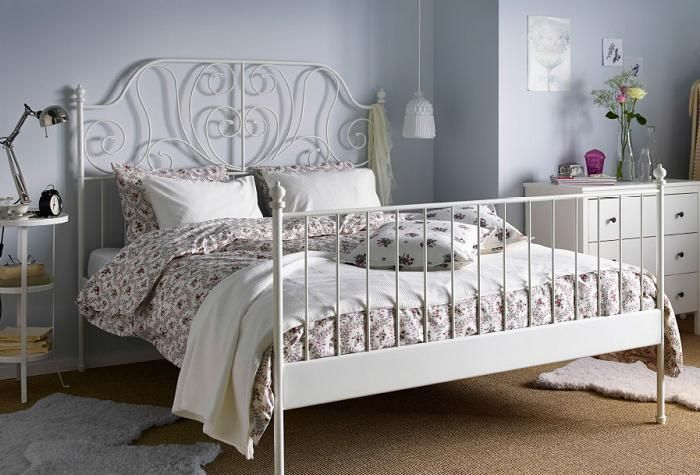 cama de forja blanca ikea
