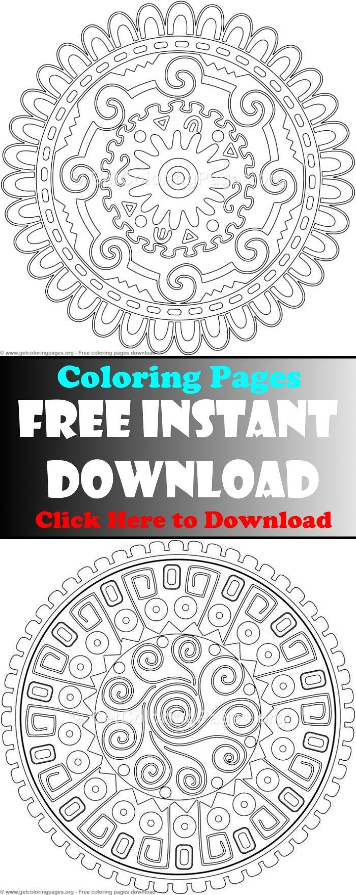 mandala coloring pages,advanced mandala coloring pages ...