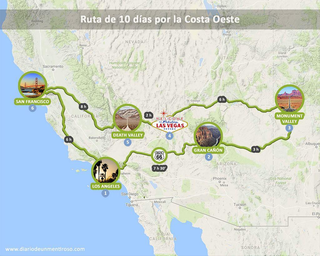 5 Itinerarios Y Rutas Por La Costa Oeste De Estados Unidos