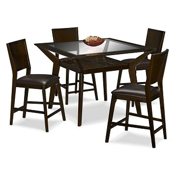 Mystic 5 Piece Counter Height Dinette 277 Was 299 With Its Fresh Take On Classic Latticework And Mixed Materials Dinette Sets Dining Furniture Sets Dinette