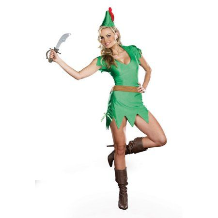 d6be571e3f151 Pretty Pan Adult Costume | Products | Peter pan halloween costumes ...