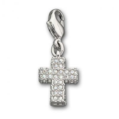 Swarovski Cross Charm 973779 with Rhodium-plated