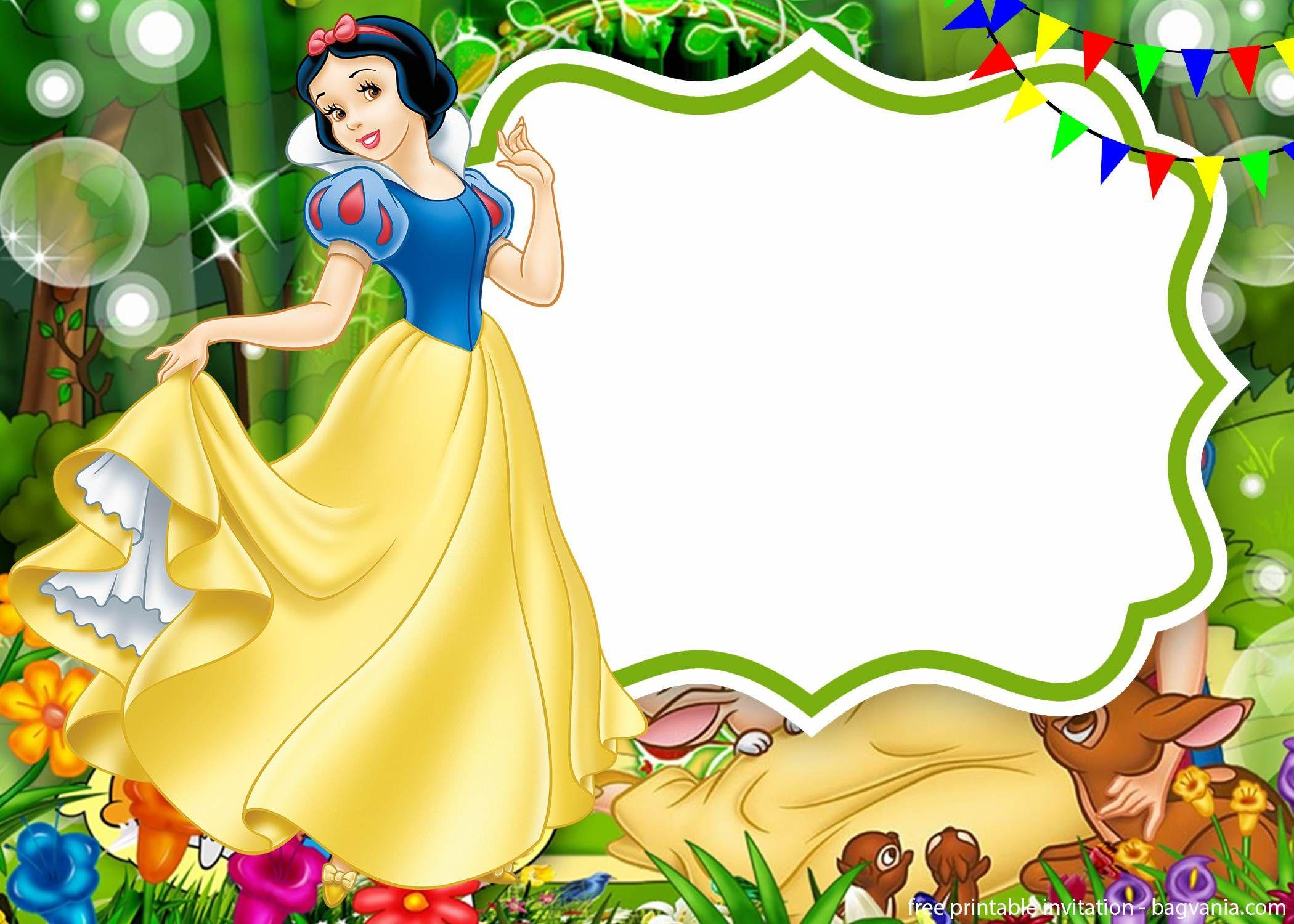 Snow White Amp Seven Dwarfs Invitations Templates