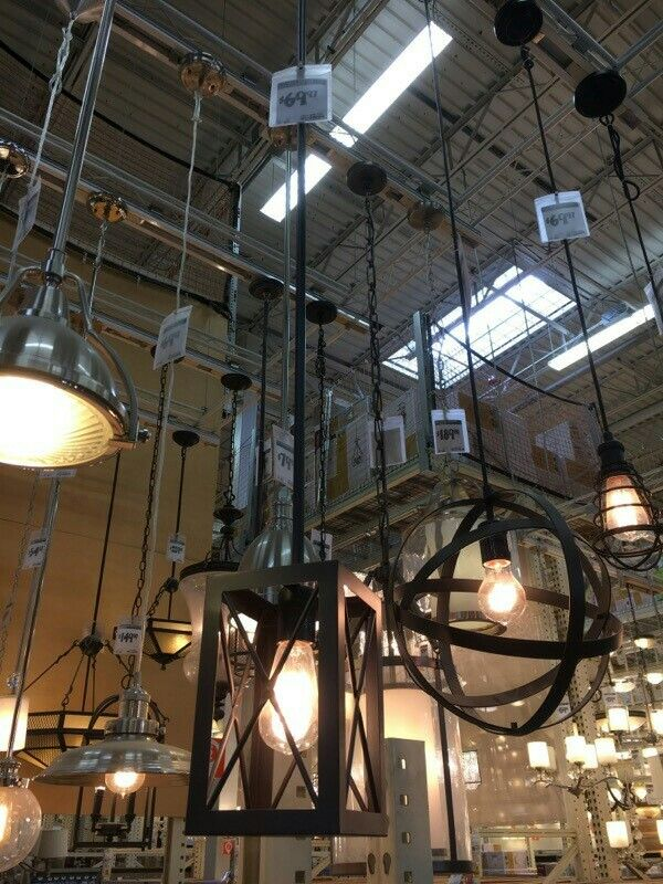 Island pendant light (2) Home Depot