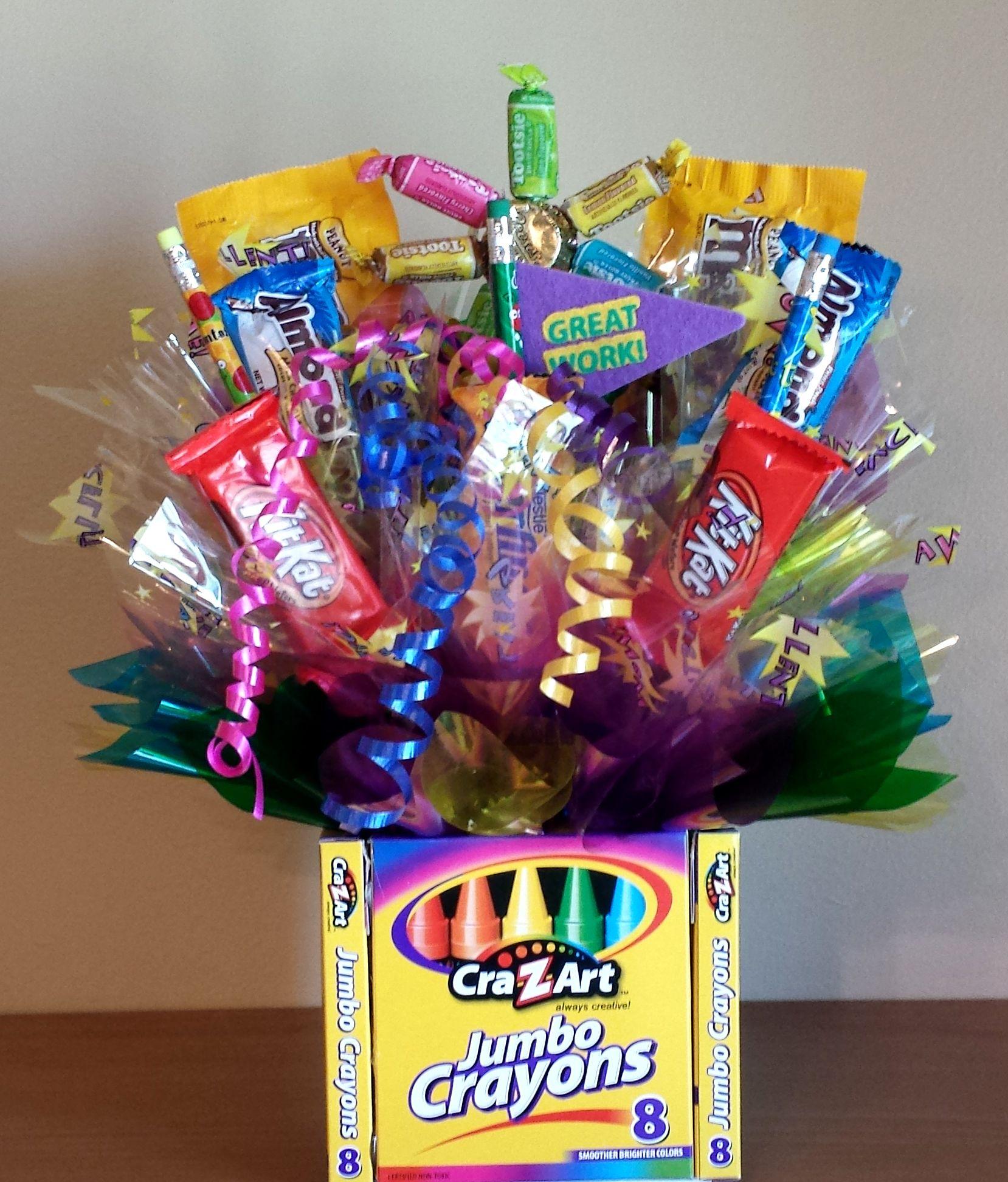 Movie Night Bouquet With Drinks: Teacher Appreciation Candy Bouquet Gift Idea