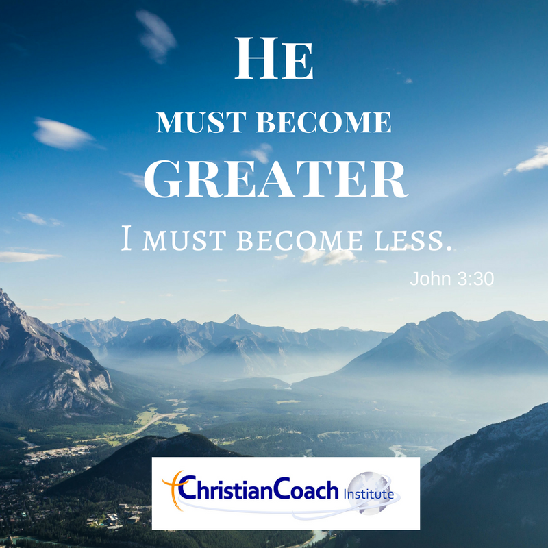 He Must Become Greater I Must Become Less John 330 Ccinstitute