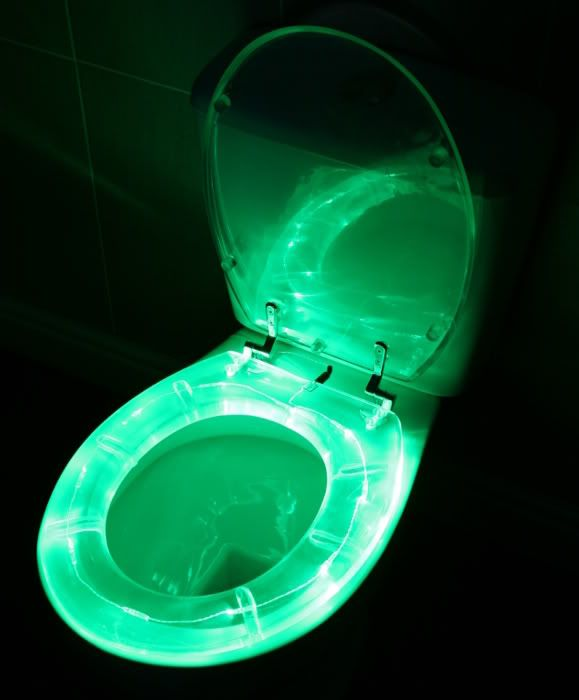 Illuminated Toilet Seat Cover For Those Late Night Trips To The
