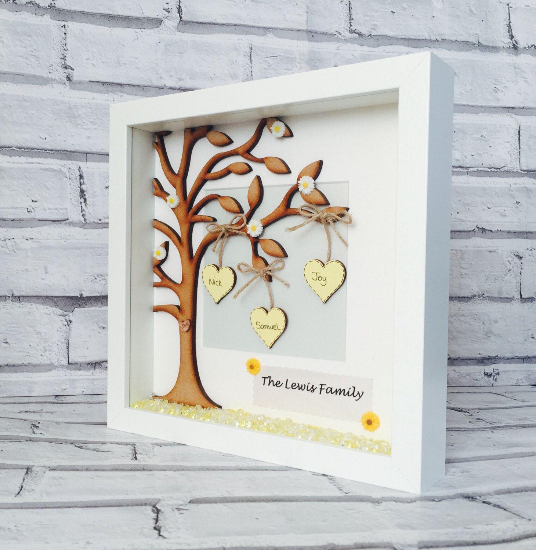 Family Tree Frame, Personalised Family Tree Gift Frame, Family ...
