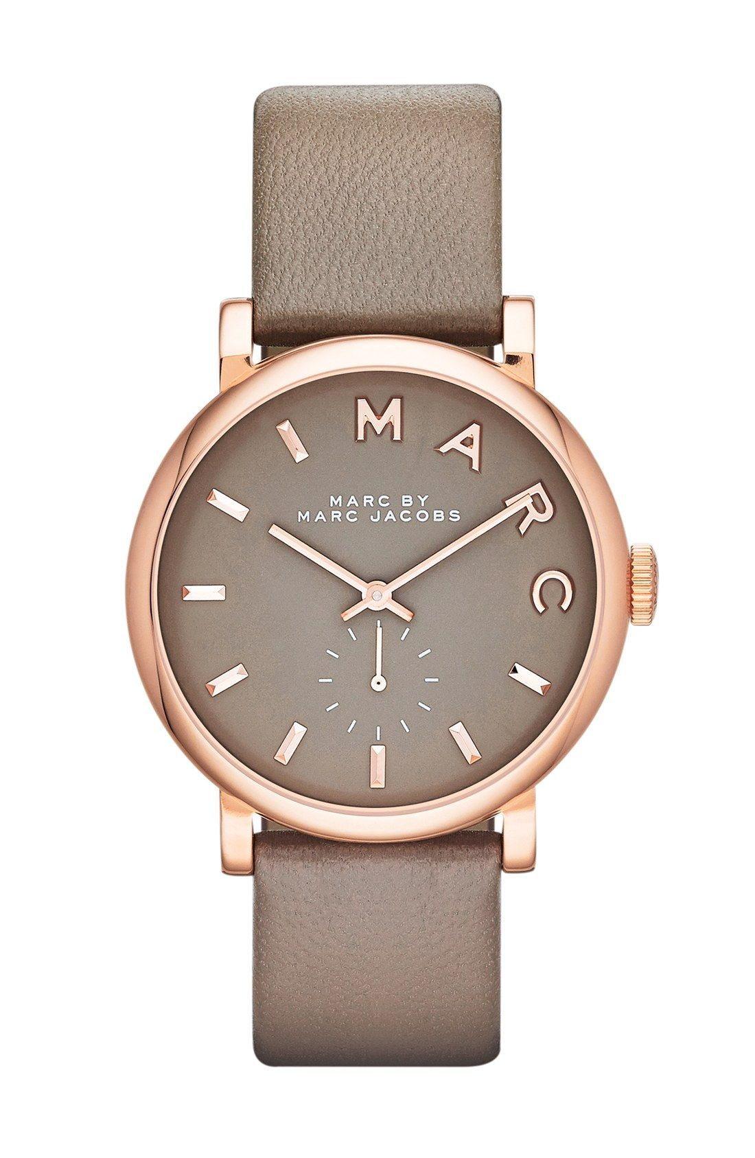e9b1d82842c0b3 Who knew gray + rose gold would look so fantastic together  This Marc Jacobs  watch does it right.