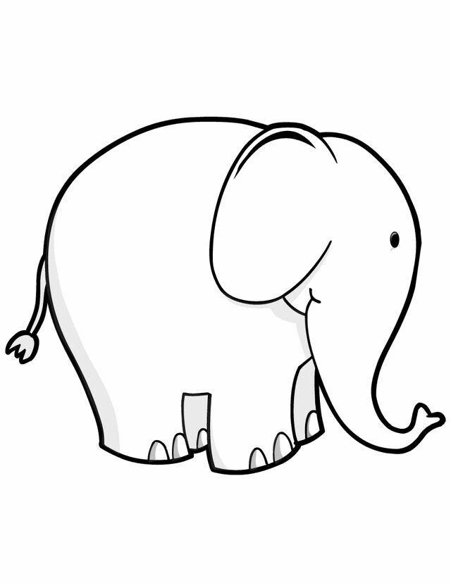 Elefante Con Imagenes Dibujos De Animales Sellos Digitales