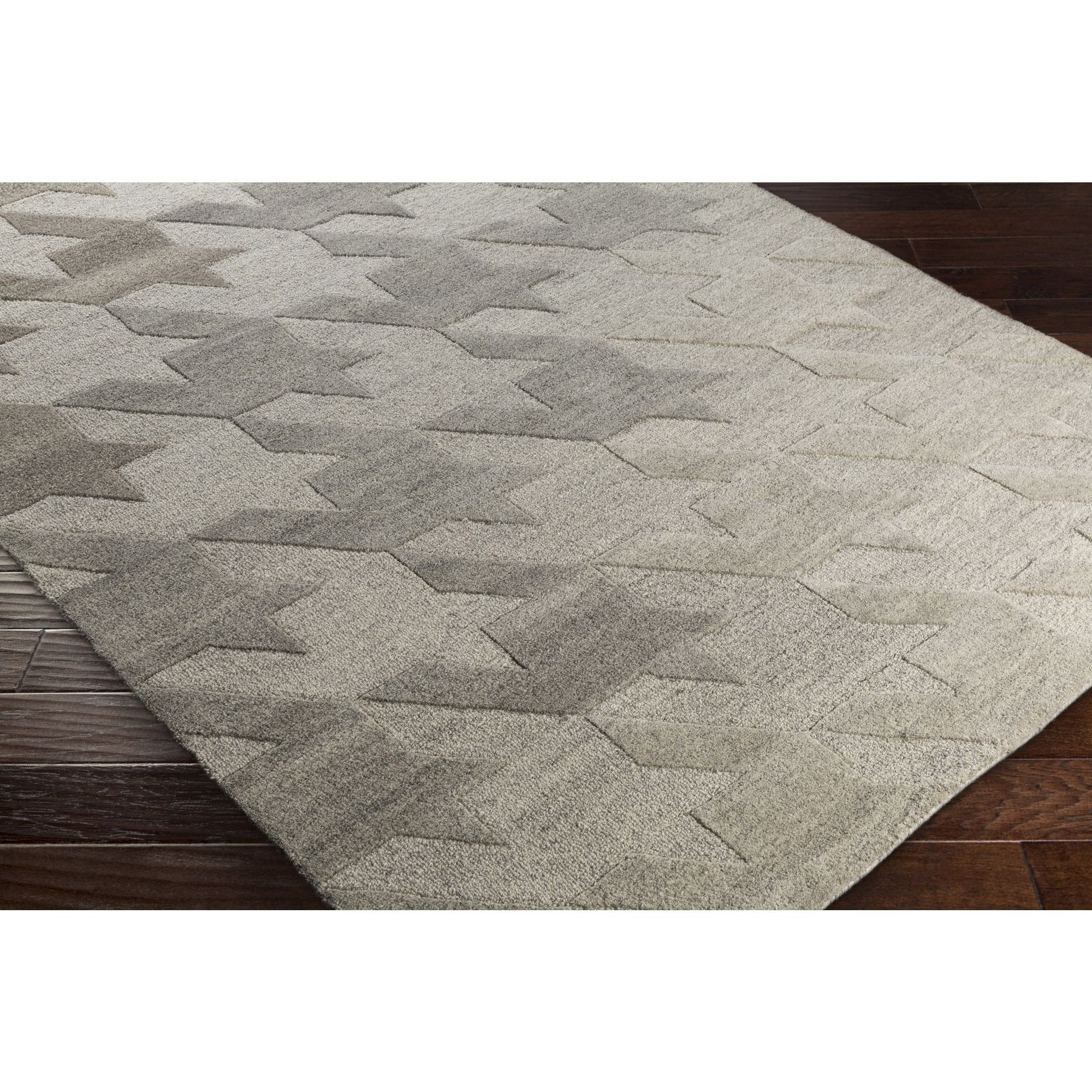 Hand Tufted Angselle Wool Rug 8 X 10 Grey Size 8 X 10