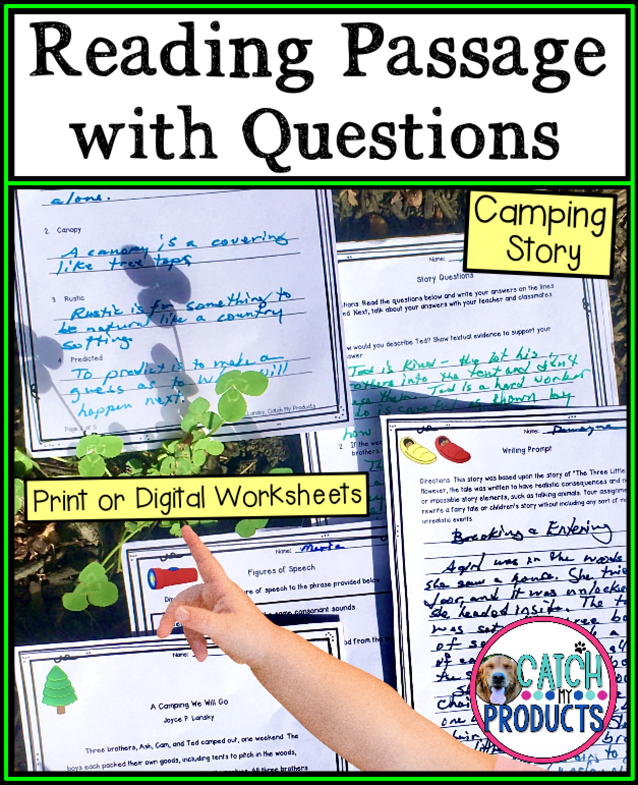 Reading Passages And Questions For Kids In