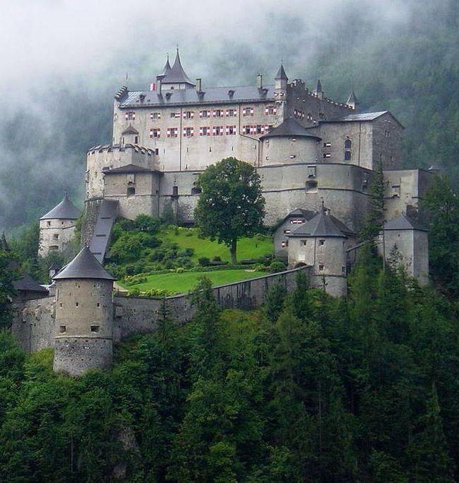 Hohenwerfen Castle Werfen Austria Hohenwerfen Castle Beautiful Castles European Castles