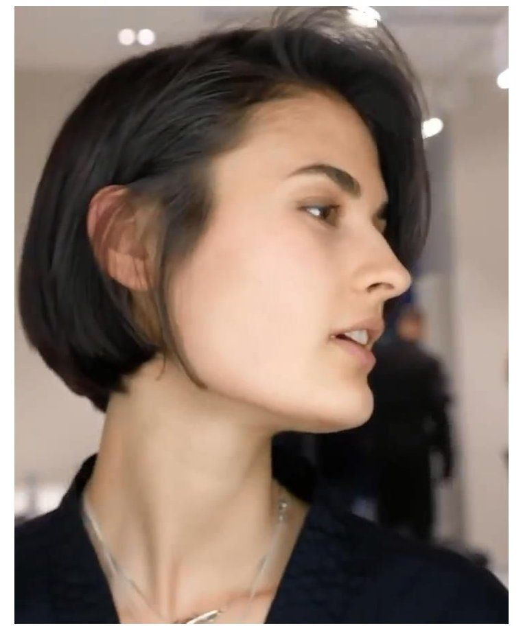 short hair korean women