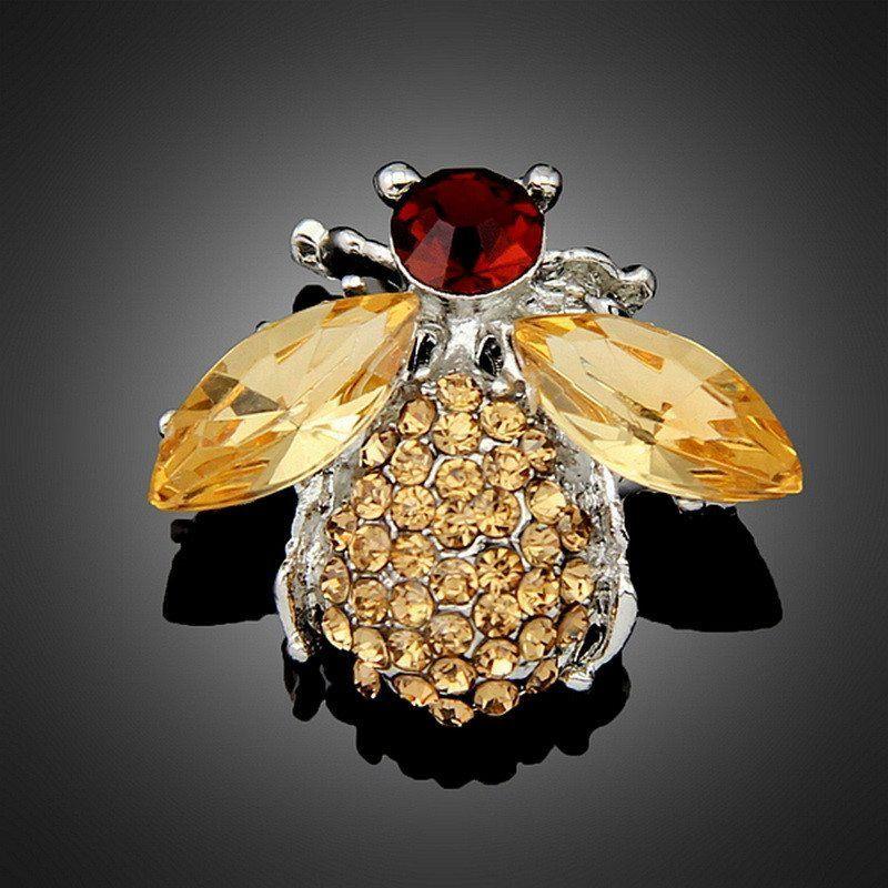 Cute Crystal Bee Brooch