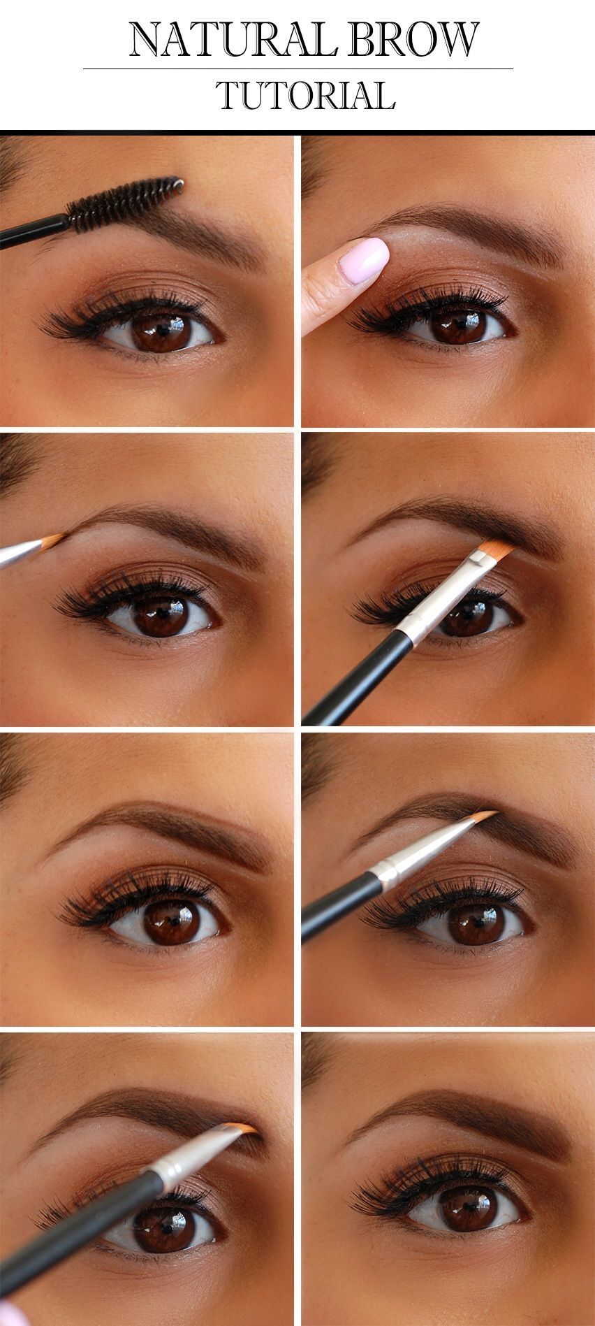 Natural Eyebrow Tutorial Shaping Your Eyebrows Pinterest