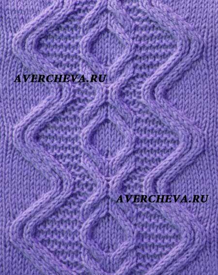 узор из кос спицами 998   Inspiration yarn   Pinterest   Kabel ...
