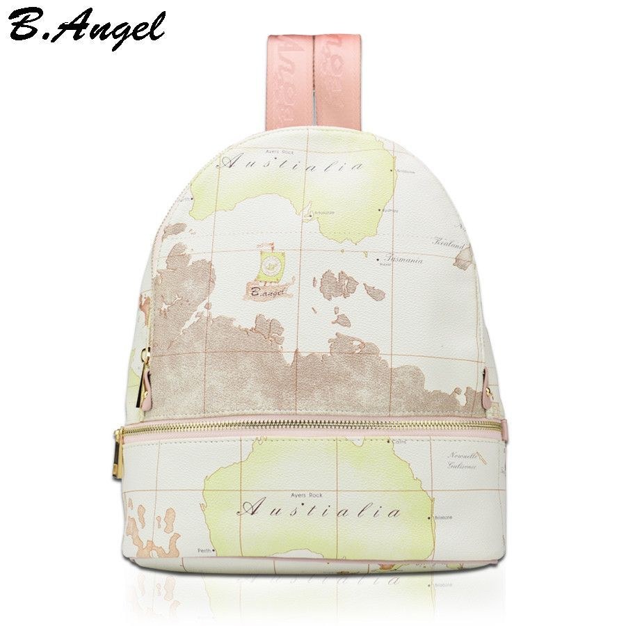 High quality unisex world map backpack casual women backpack high quality unisex world map backpack casual women backpack leather men backpack school bag mochila travel gumiabroncs Image collections