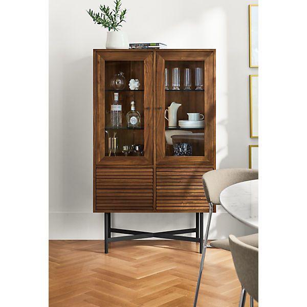 Adrian Glass Door Cabinet Modern Dining Room Furniture Glass